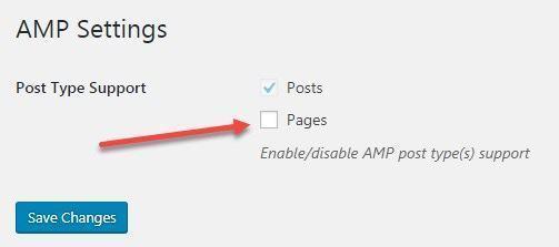Thiết lập plugin AMP for WordPress