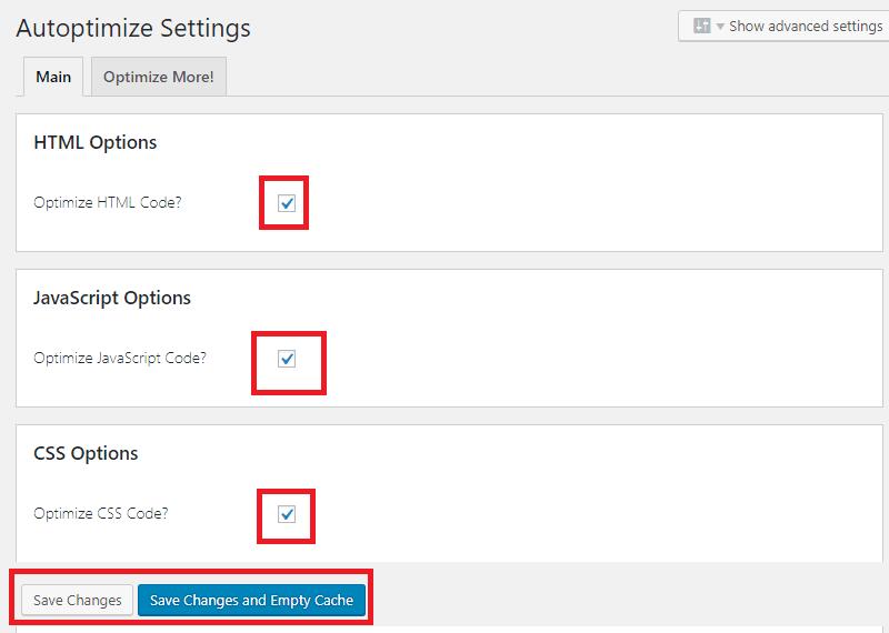 Cài đặt Plugin Autoptimize