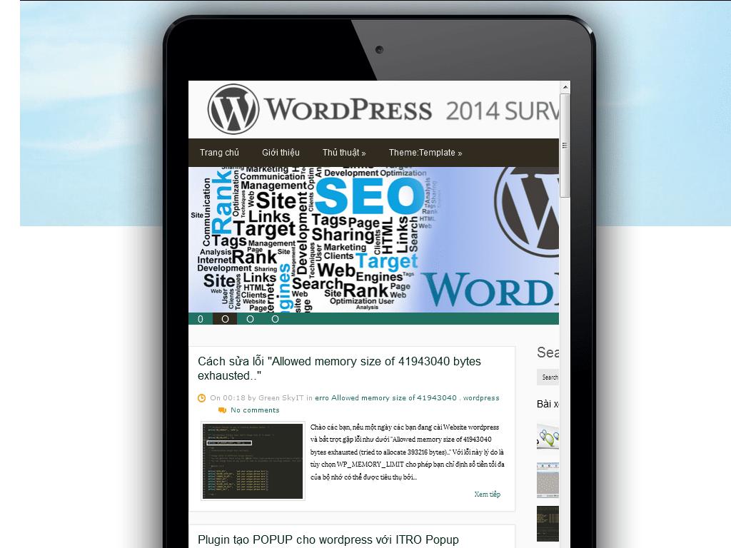 Tối ưu wordpress trên Mobile