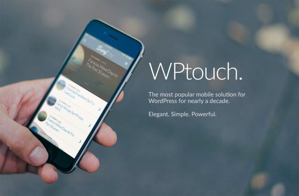 Plugin WPtouch giúp tối ưu wordpress