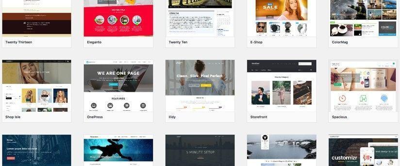 Hình ảnh các Theme đa dạng