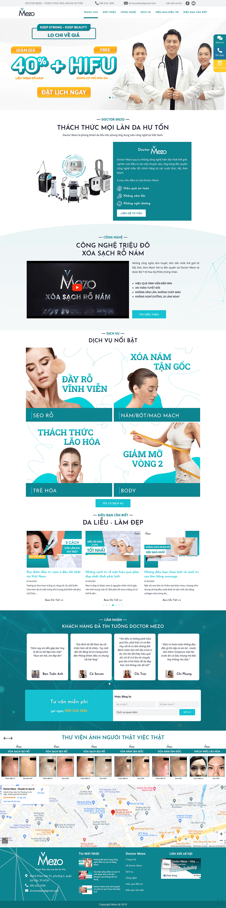 Dự án Spa – Chăm sóc sắc đẹp Doctor Mezo