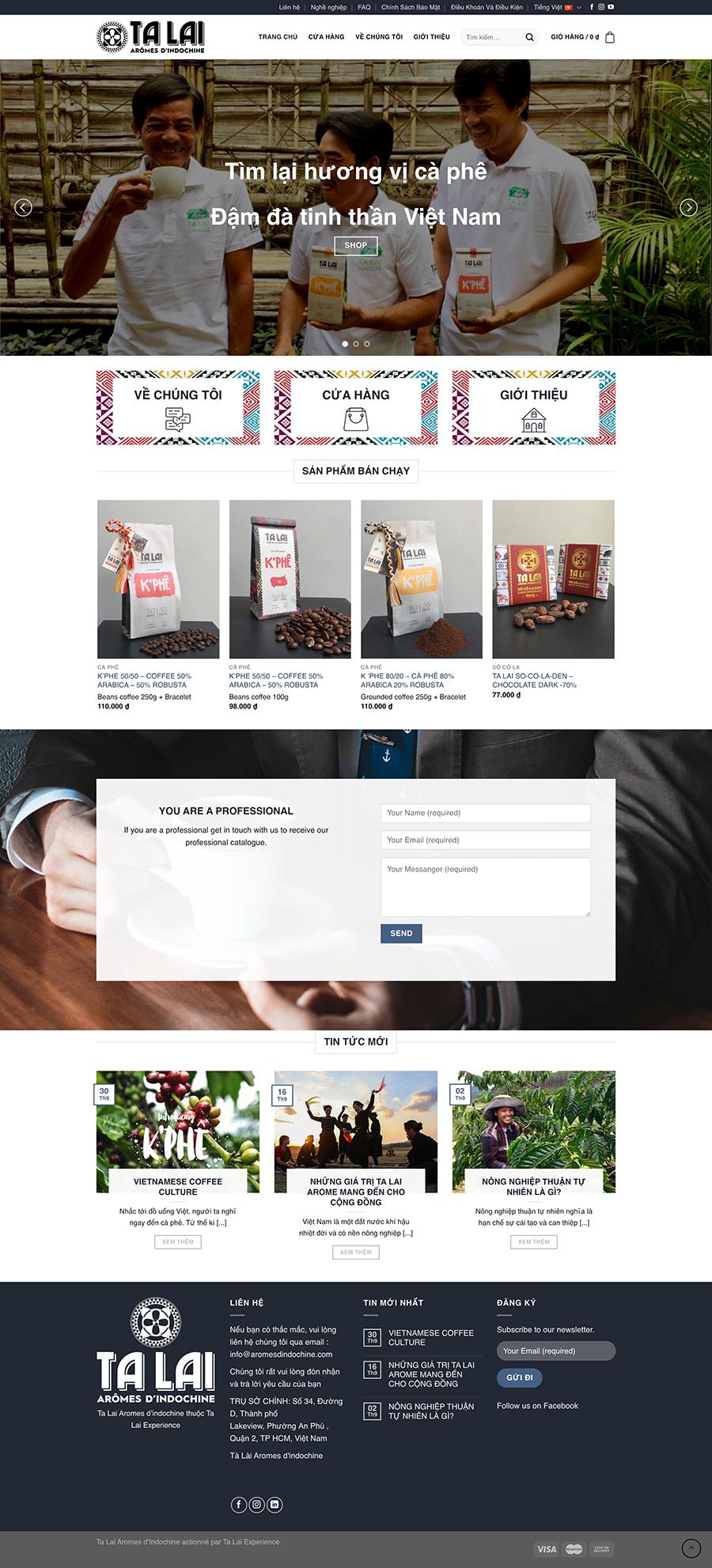 Dự án chuỗi cung ứng cà phê Tà Lài