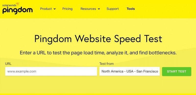 Pingdom là công cụ phân tích tốc độ website