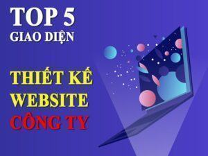 giao diện thiết kế website công ty