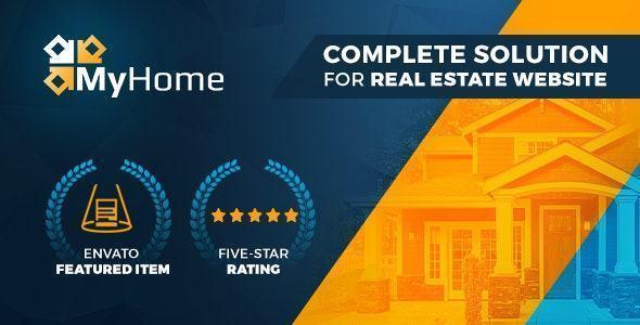 Theme thiết kế website bất động sản MyHome