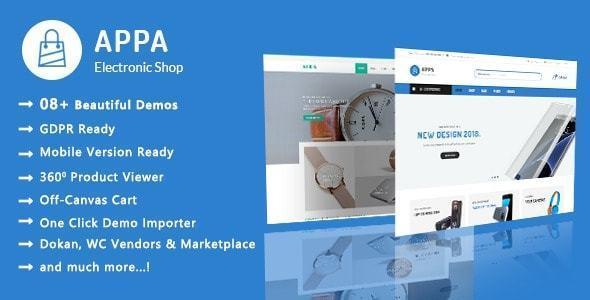 Appa là theme phù hợp với website điện máy