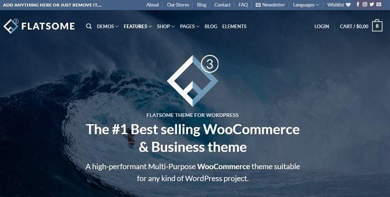 Theme Flatsome thiết kế website điện máy đơn giản