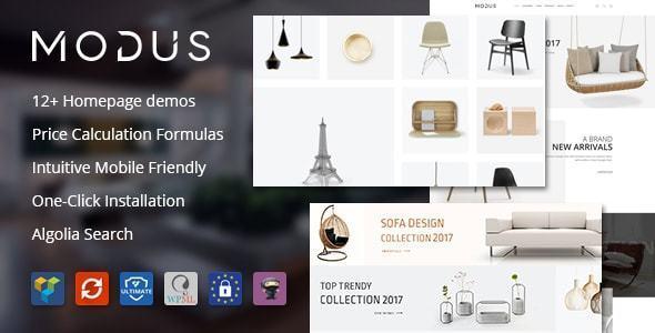 Modus sử dụng thiết kế website điện máy đơn giản
