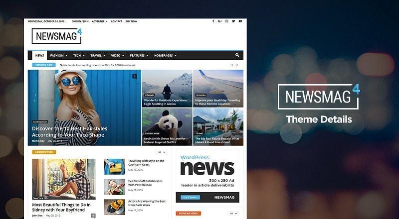 Newsmag là một mẫu thiết kế website tin tức tốt
