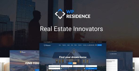 Giao diện website Residence Real Estate