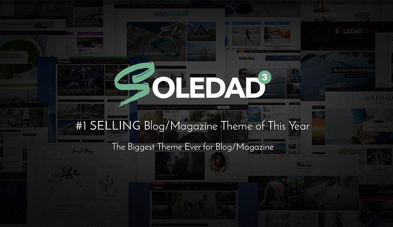 Theme Soledad dùng thiết kế giao diện tin tức
