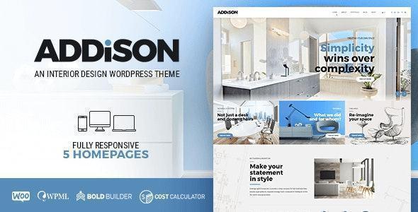 theme web ngành thiết kế nội ngoại thất