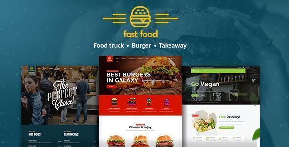 theme website ngành ẩm thực