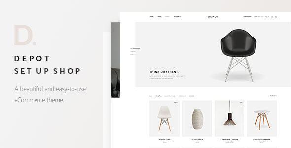 Depot - Giao diện web bán hàng phong cách tối giản