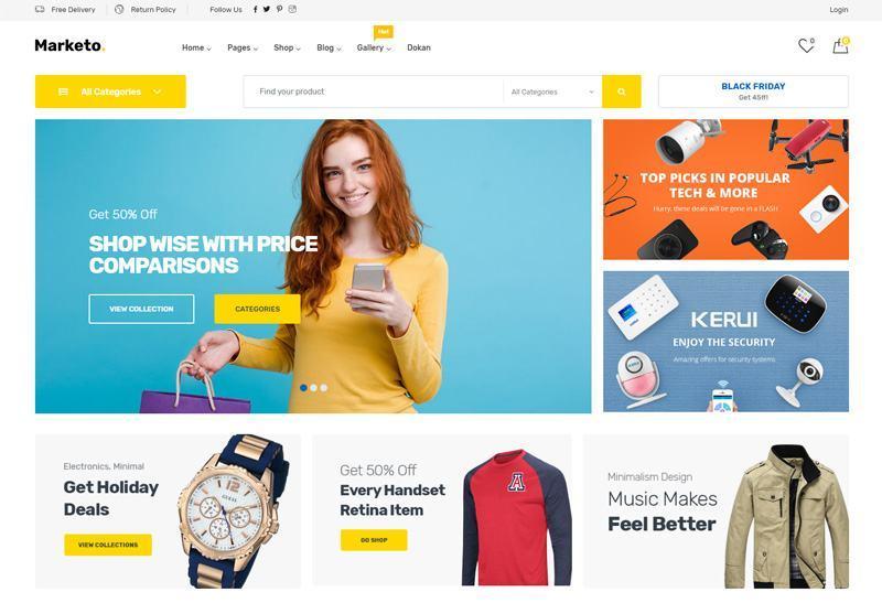 Marketo - Giao diện web bán hàng đa dạng