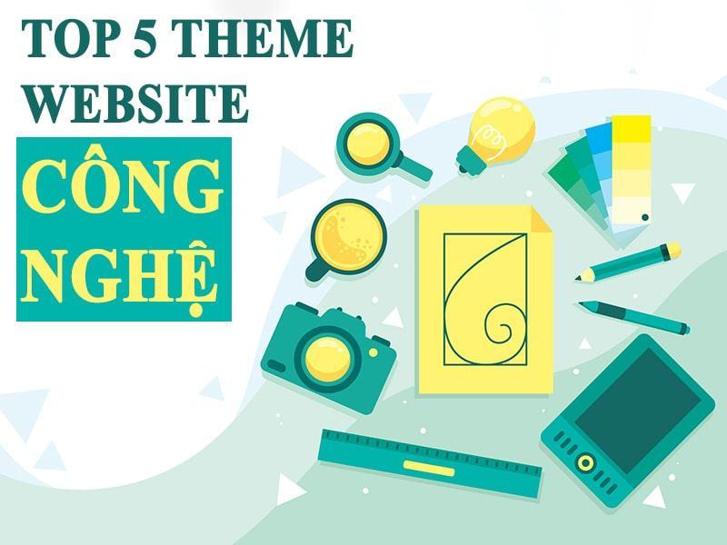 theme website công nghệ