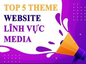 theme web lĩnh vực media