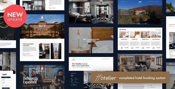 theme website ngành khách sạn