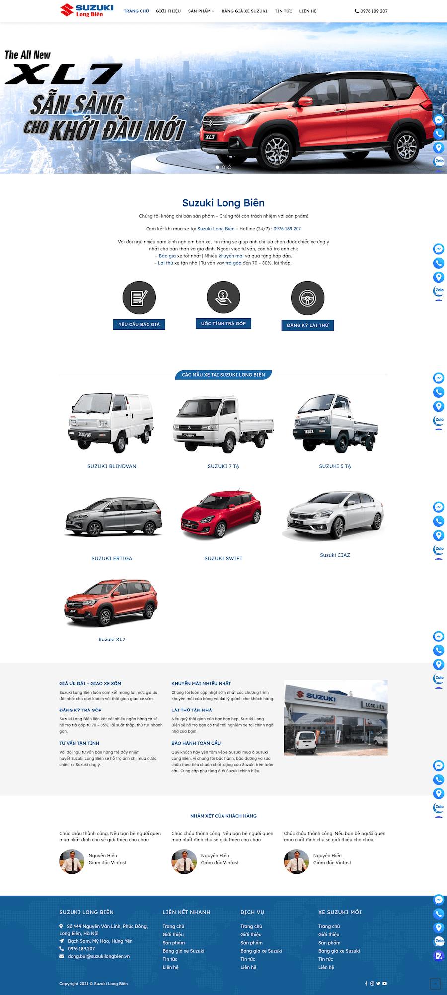 Dự án đại lý ô tô Long Biên Suzuki
