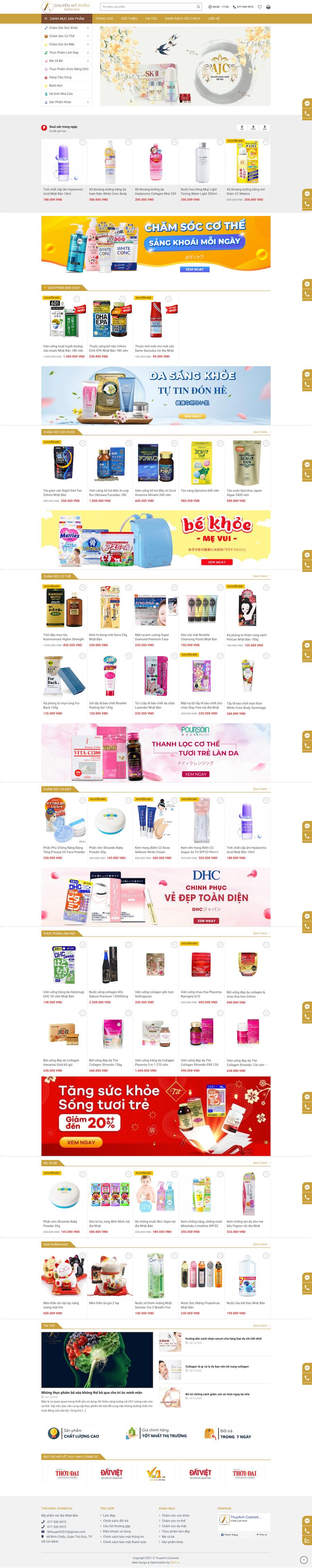 Dự án kinh doanh mỹ phẩm Thuý Anh Cosmetic