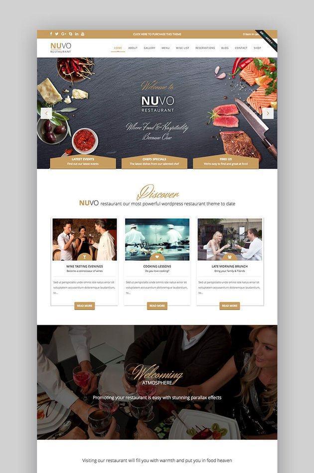 Theme Nuvo cho website nhà hàng