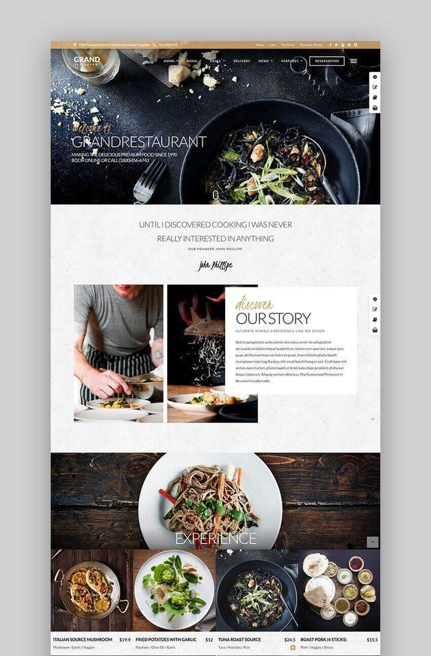 Theme website Grand Restaurant