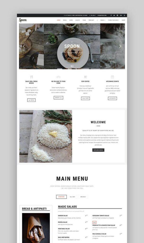 Theme website Spoon