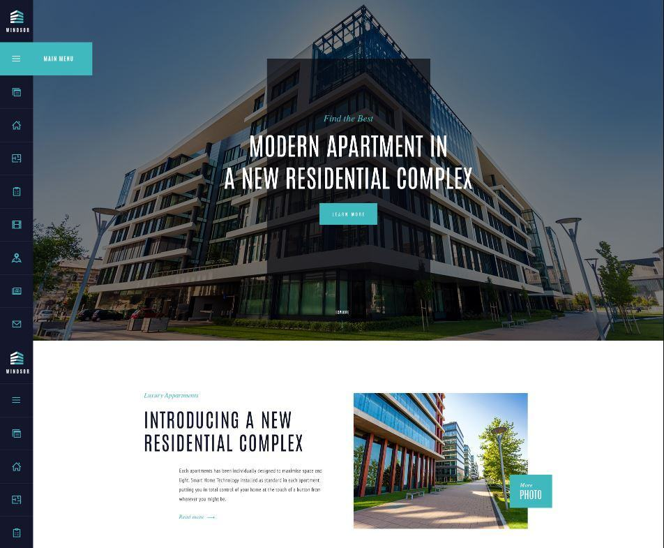 Theme website bất động sản Windsor