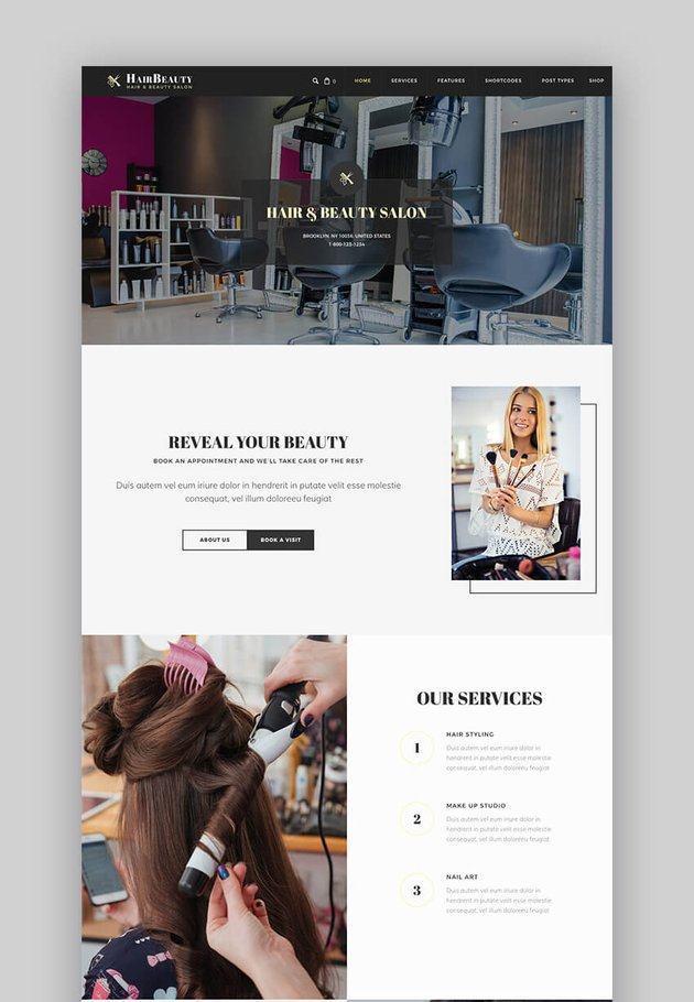 Theme website dịch vụ làm đẹp