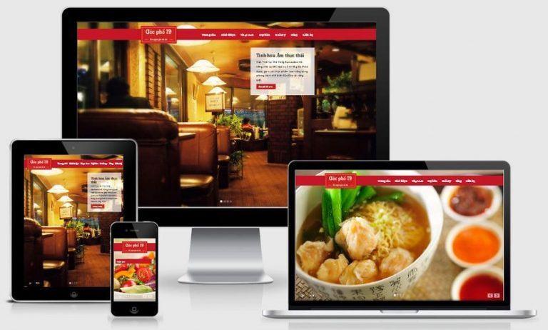 Theme website nhà hàng đẹp