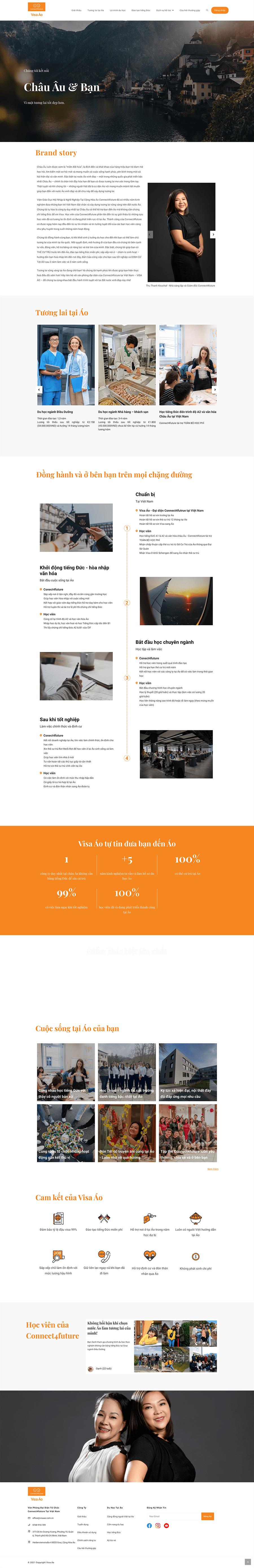 Dự án Tổ chức tư vấn du học – Visa Áo