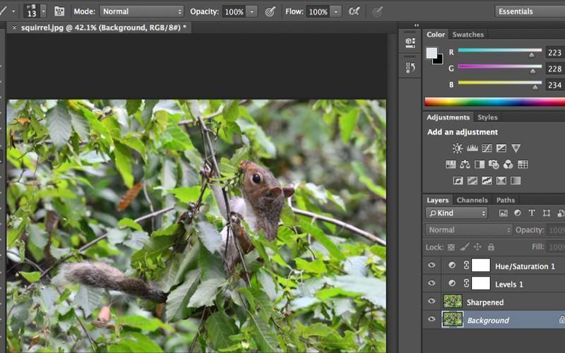 Giao diện Adobe Photoshop