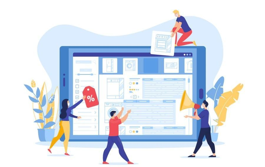 Giao diện web illustrations