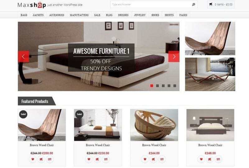 Template website bán hàng Maxshop