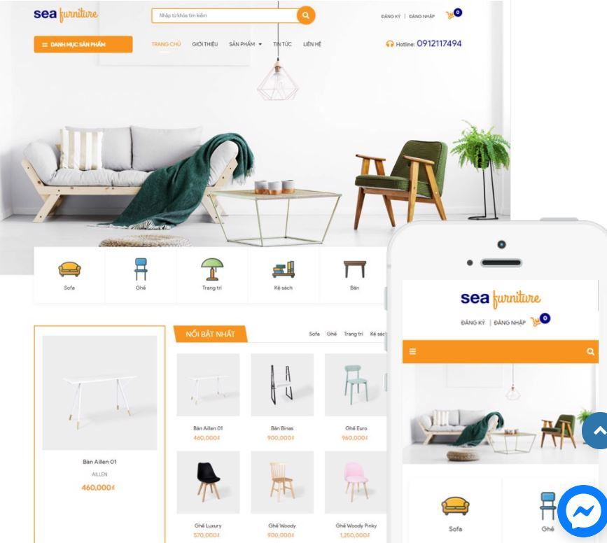 Giao diện bán nội thất