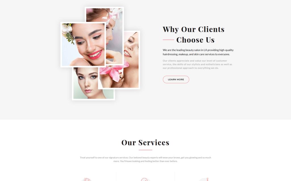 Giao diện website làm đẹp