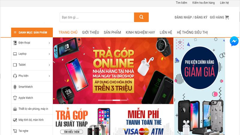 Mẫu template website bán điện thoại số 1