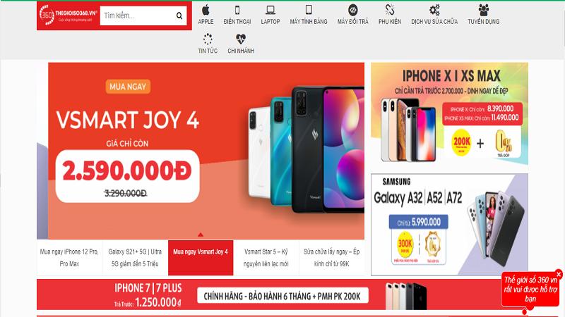 Mẫu template website bán điện thoại số 2