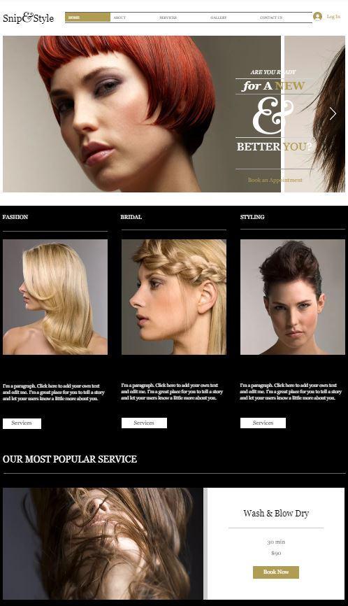 Tải giao diện website miễn phí tiệm làm tóc