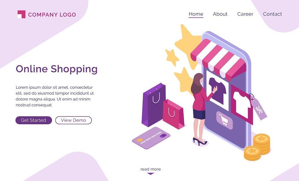 Giao diện thiết kế web bán hàng đẹp tạo ấn tượng tốt cho người dùng