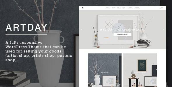 Giao diện web bán hàng Artday