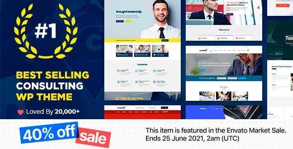 Mẫu giao diện giới thiệu doanh nghiệp Consulting
