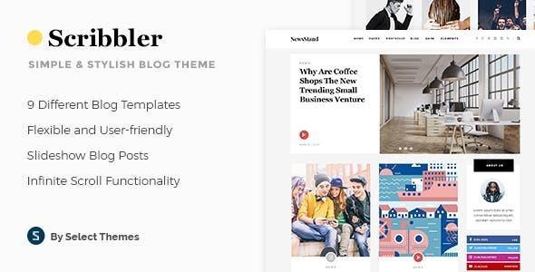 Giao diện web đơn giản Scribbler