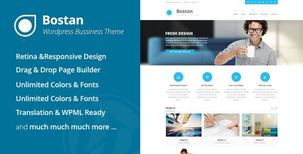 Mẫu web giới thiệu công ty hiện đại Bostan
