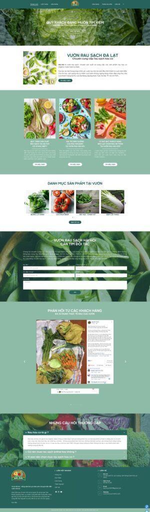 Mẫu website cho cửa hàng thực phẩm