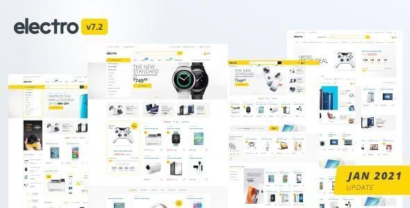 Template web bán điện thoại Electro