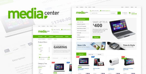 Template web bán điện thoại Media Center