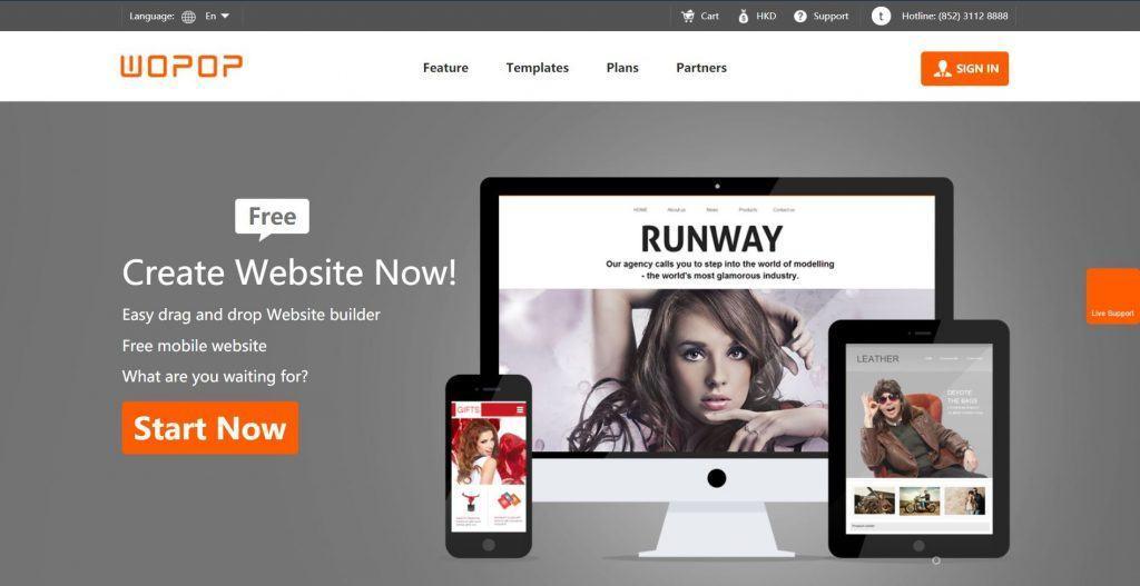 Wopop - Tự thiết kế web với giao diện mẫu đa dạng